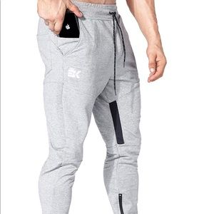 0136 Mens Thigh Mesh Gym Jogger Pants, Men's